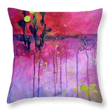 Desert Landscape Abstract Throw Pillow by Nancy Merkle