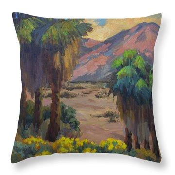 Desert Marigolds At Andreas Canyon Throw Pillow