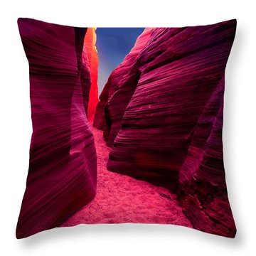 Throw Pillow featuring the mixed media Desert Maze by Michelle Dallocchio