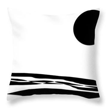 Desert Moon Throw Pillow