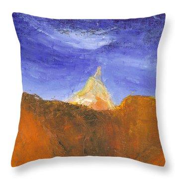 Desert Mountain Canyon Throw Pillow