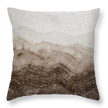 Desert Mountain Mist Original Painting Throw Pillow