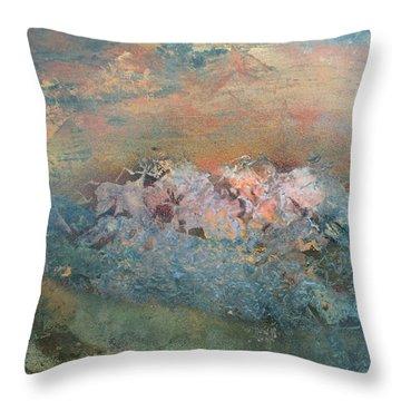 Desert Mountains  Throw Pillow