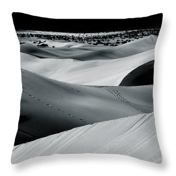 Desert Night Death Valley By Diana Sainz Throw Pillow by Diana Sainz