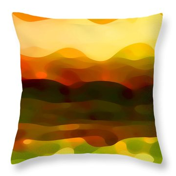 Desert Pattern 2 Throw Pillow by Amy Vangsgard