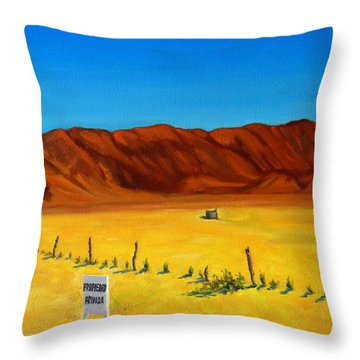 Desert Privacy Throw Pillow