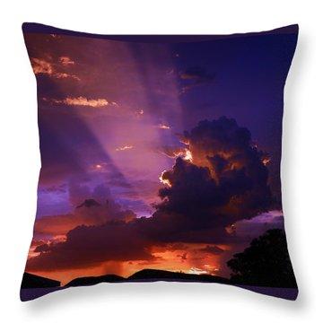 Desert Rain Cloud Throw Pillow