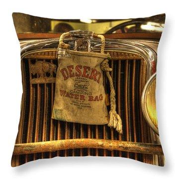 Desert Rat Throw Pillow by Bob Christopher