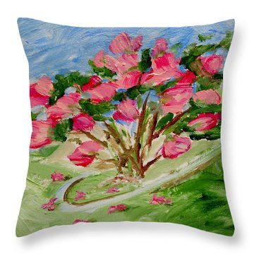 Desert Rose Abstract Throw Pillow by Jamie Frier