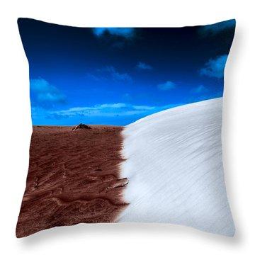 Desert Sand And Sky Throw Pillow