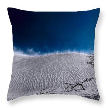 Desert Sandstorm Throw Pillow
