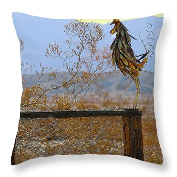 Desert Sentinel Throw Pillow