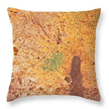Desert Shadows Abstract Square Throw Pillow
