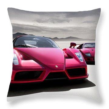 Desert Showdown Throw Pillow
