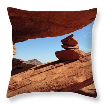 Throw Pillow featuring the photograph Desert Signpost by Alan Socolik