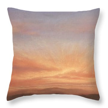 Desert Sky Triptych Throw Pillow
