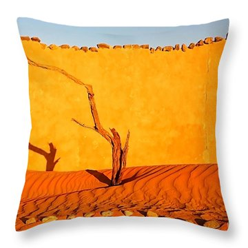 Namibia Desert Still Life Throw Pillow