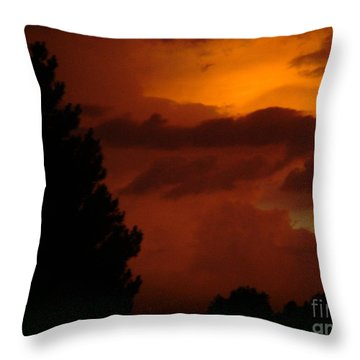 Throw Pillow featuring the photograph Desert Storm by Carla Carson