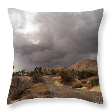 Desert Storm Come'n Throw Pillow by Angela J Wright