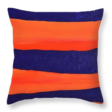 Desert Streams Throw Pillow