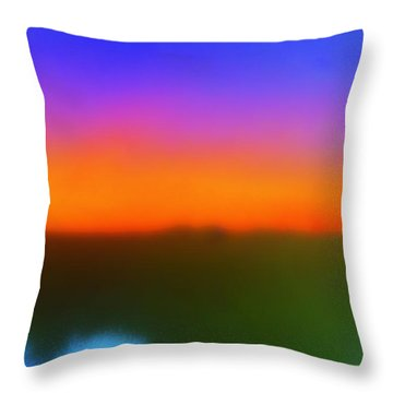 Desert Sun Abstract Throw Pillow