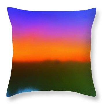 Desert Sun Abstract Throw Pillow by Deborah  Crew-Johnson
