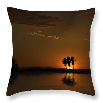 Throw Pillow featuring the photograph Desert Sunset by Lynn Geoffroy