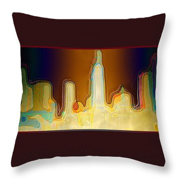 Desert Sunset Throw Pillow by Paula Ayers