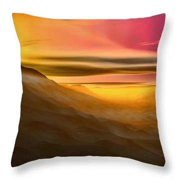 Desert Sunset Throw Pillow by Tyler Robbins