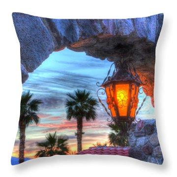 Desert Sunset View Throw Pillow by Heidi Smith