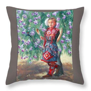 Desert Willow Throw Pillow