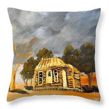 Deserted Castlemain Farmhouse Throw Pillow