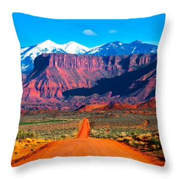 Deserted Dirt Road Throw Pillow