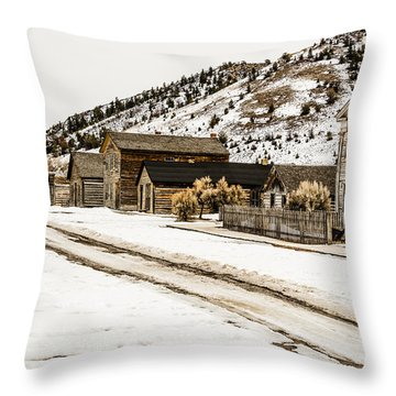 Deserted Street Throw Pillow by Sue Smith