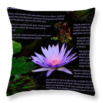 Desiderata 2 Throw Pillow