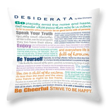 Desiderata - Multi-color - Square Format Throw Pillow by Ginny Gaura