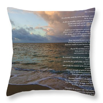 Desiderata Throw Pillow