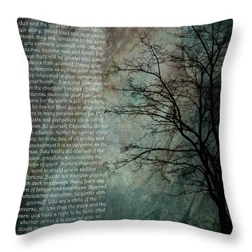 Desiderata Of Happiness - Vintage Art By Jordan Blackstone Throw Pillow by Jordan Blackstone