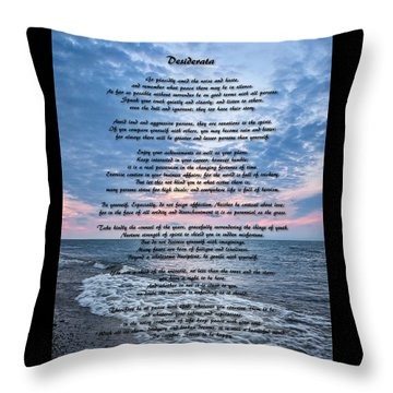 Desiderata Wisdom Throw Pillow