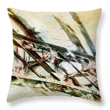Design In Steel Throw Pillow by Davina Washington