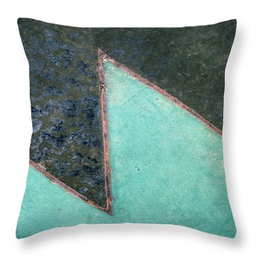 Design Underfoot   Abstract Photograph Throw Pillow