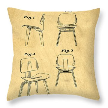 Designs For A Eames Chair Throw Pillow by Edward Fielding