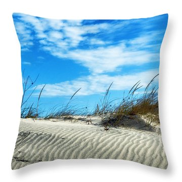 Designs In Sand And Clouds Throw Pillow by Gary Slawsky