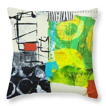 Desintegration Throw Pillow by Elena Nosyreva