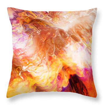 Desire - Abstract Art Throw Pillow