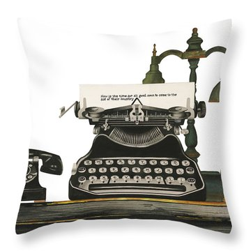 Desk Jockey Throw Pillow