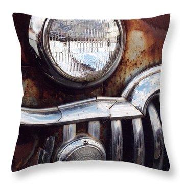 Desoto Headlight Throw Pillow