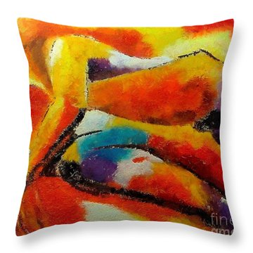 Throw Pillow featuring the painting Despair by Dragica  Micki Fortuna
