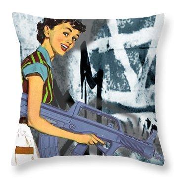 Desperate Housewife Throw Pillow by Tony Rubino