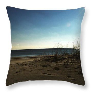 Destin Beach Sun Glare Throw Pillow